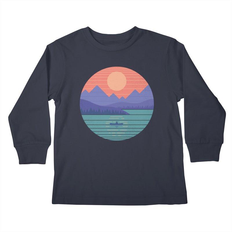 Peaceful Reflection Kids Longsleeve T-Shirt by thepapercrane's shop