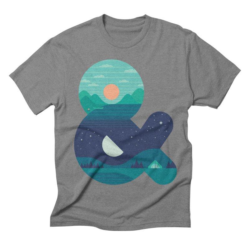 Day & Night Men's Triblend T-shirt by thepapercrane's shop