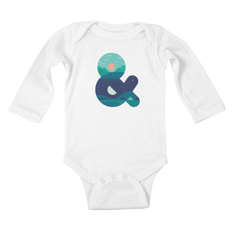 Day & Night Kids Baby Longsleeve Bodysuit by thepapercrane's shop