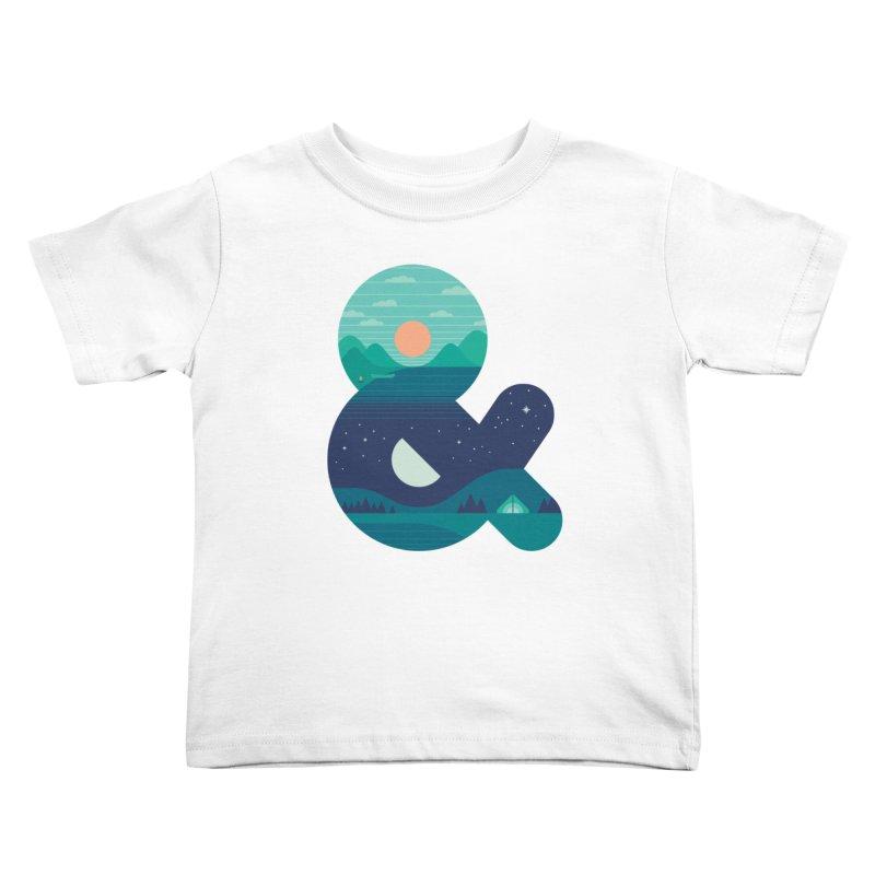 Day & Night Kids Toddler T-Shirt by thepapercrane's shop