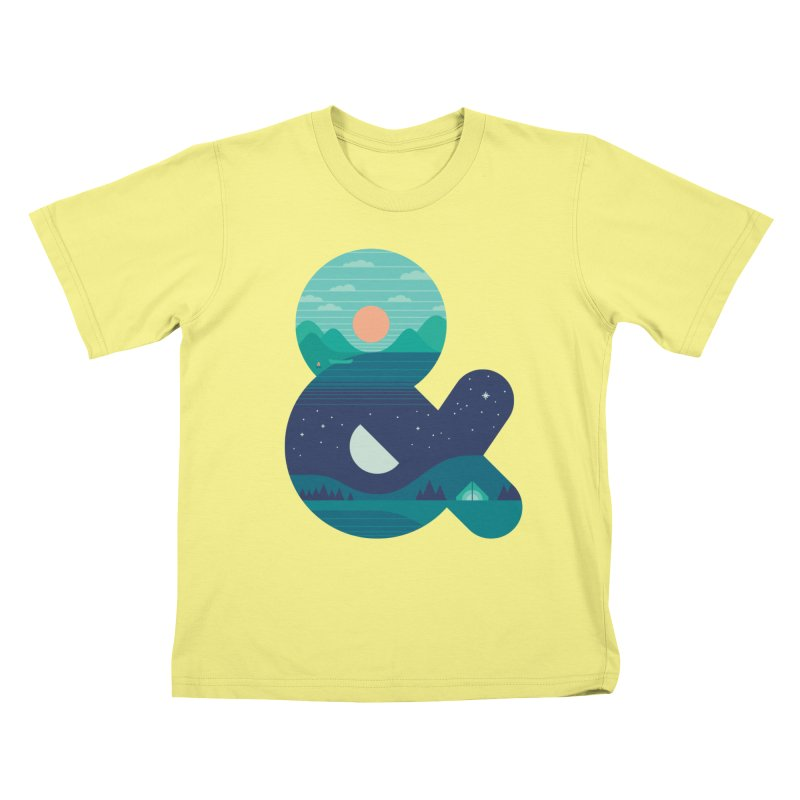 Day & Night Kids T-shirt by thepapercrane's shop