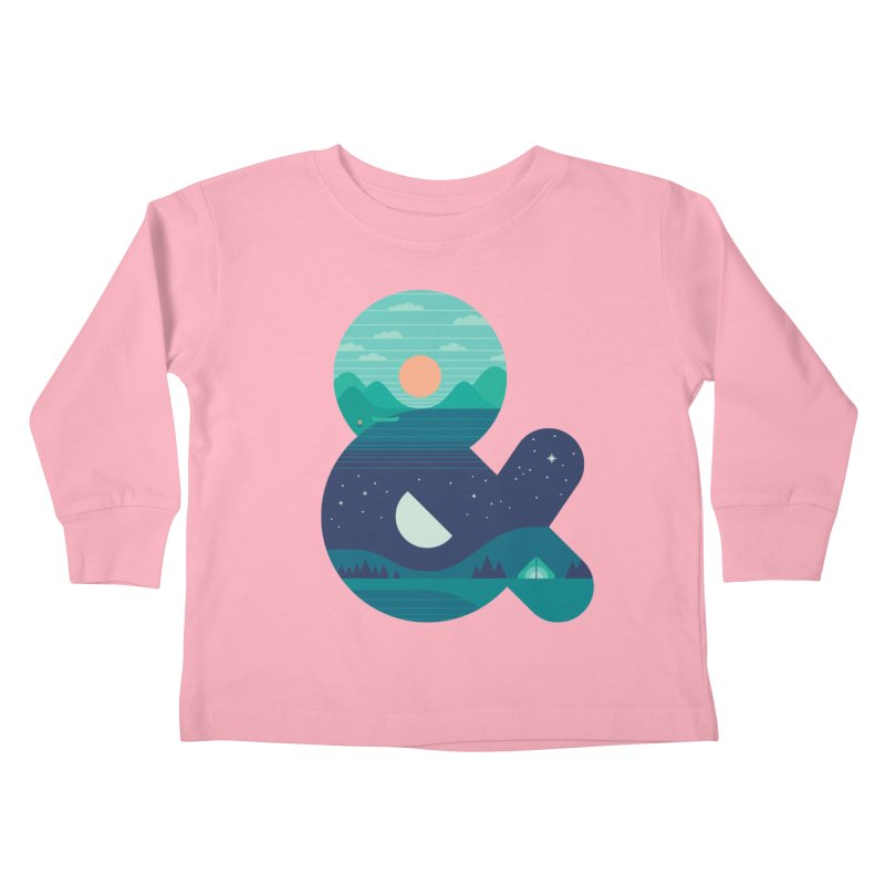 Day & Night Kids Toddler Longsleeve T-Shirt by thepapercrane's shop