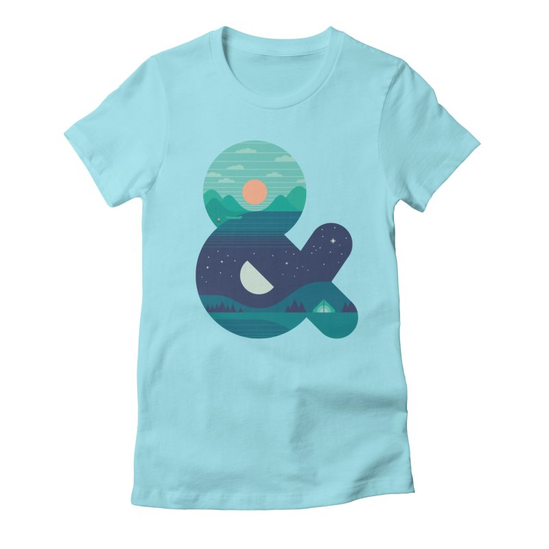 Day & Night Women's Fitted T-Shirt by thepapercrane's shop