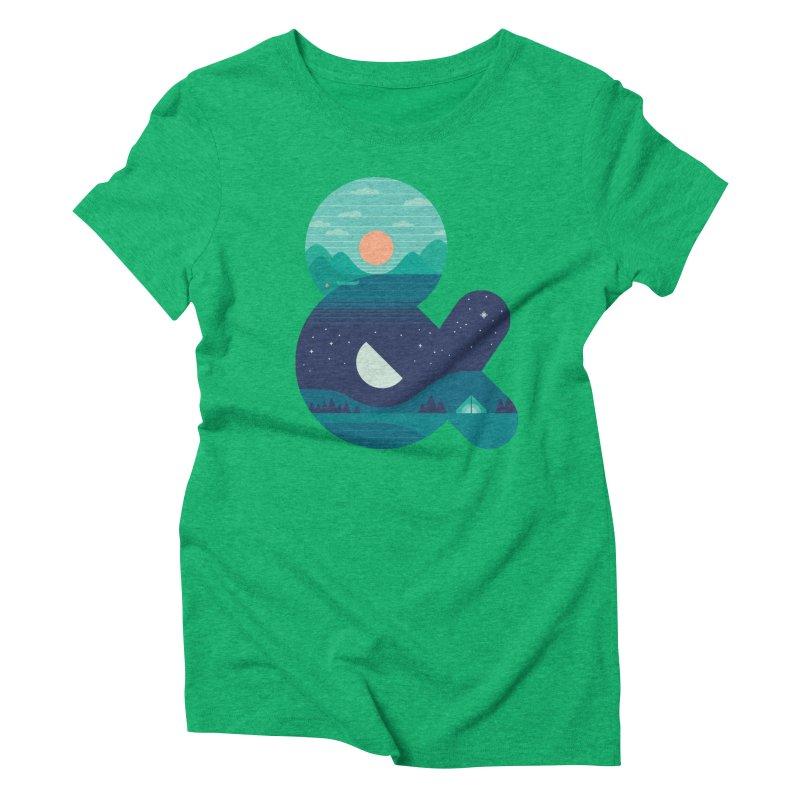 Day & Night Women's Triblend T-shirt by thepapercrane's shop