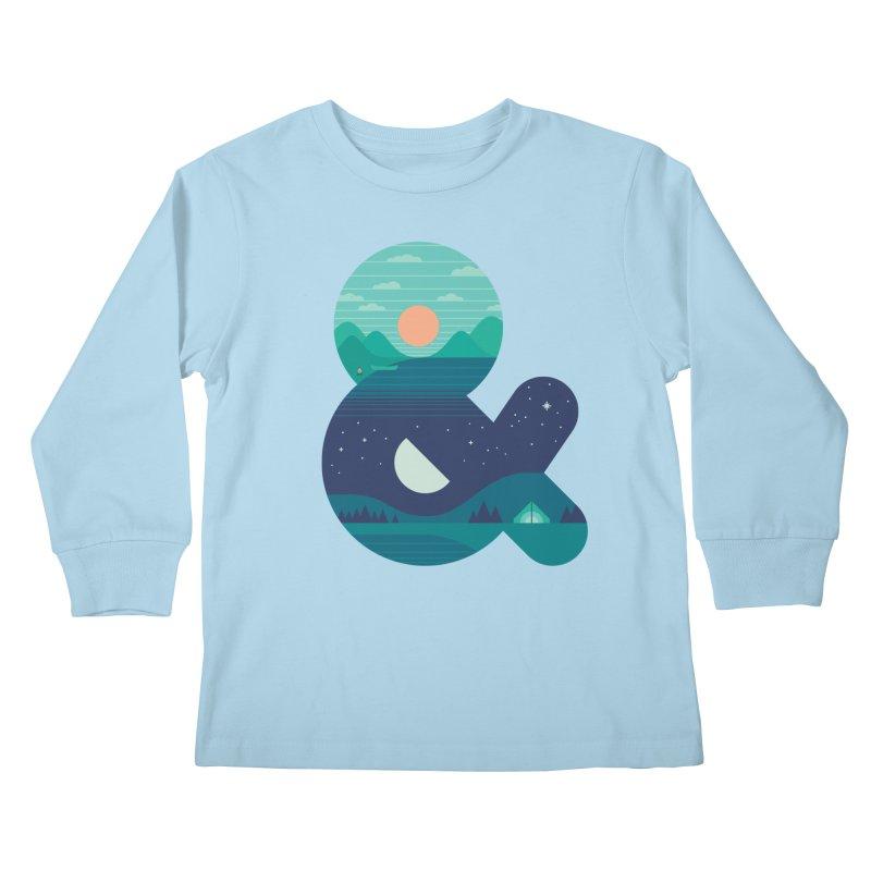 Day & Night Kids Longsleeve T-Shirt by thepapercrane's shop