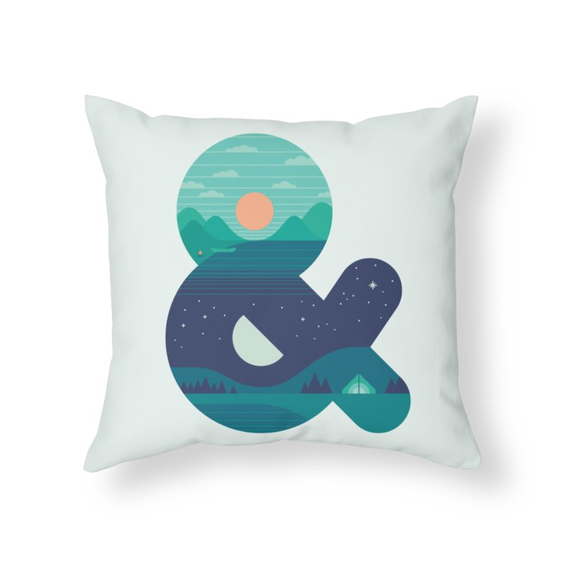Day & Night Home Throw Pillow by thepapercrane's shop