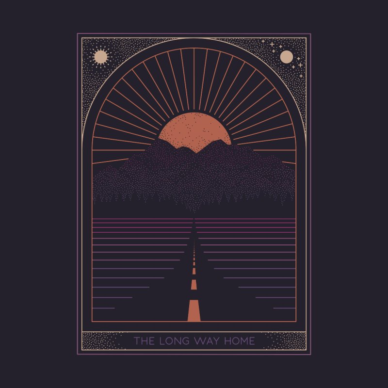 The Long Way Home Home Tapestry by thepapercrane's shop