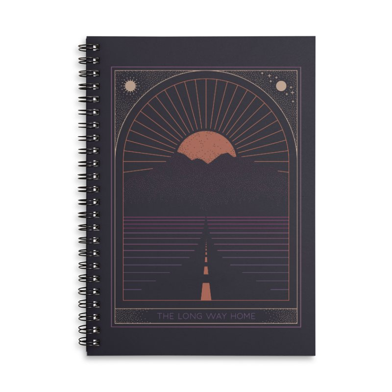 The Long Way Home Accessories Lined Spiral Notebook by thepapercrane's shop