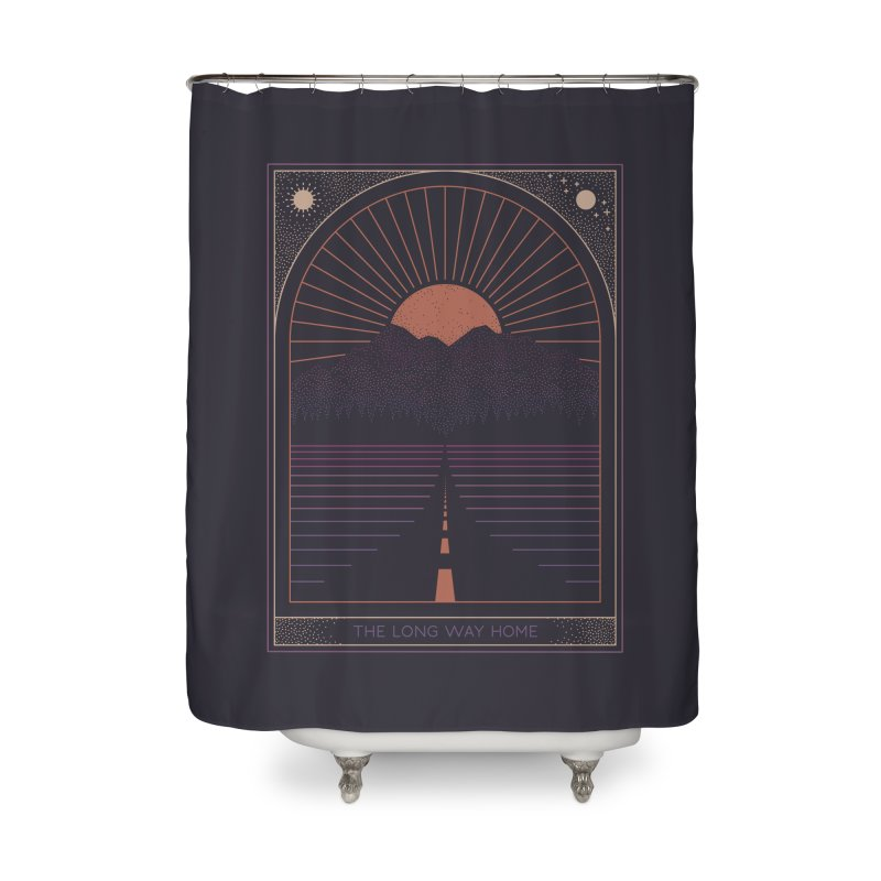 The Long Way Home Home Shower Curtain by thepapercrane's shop