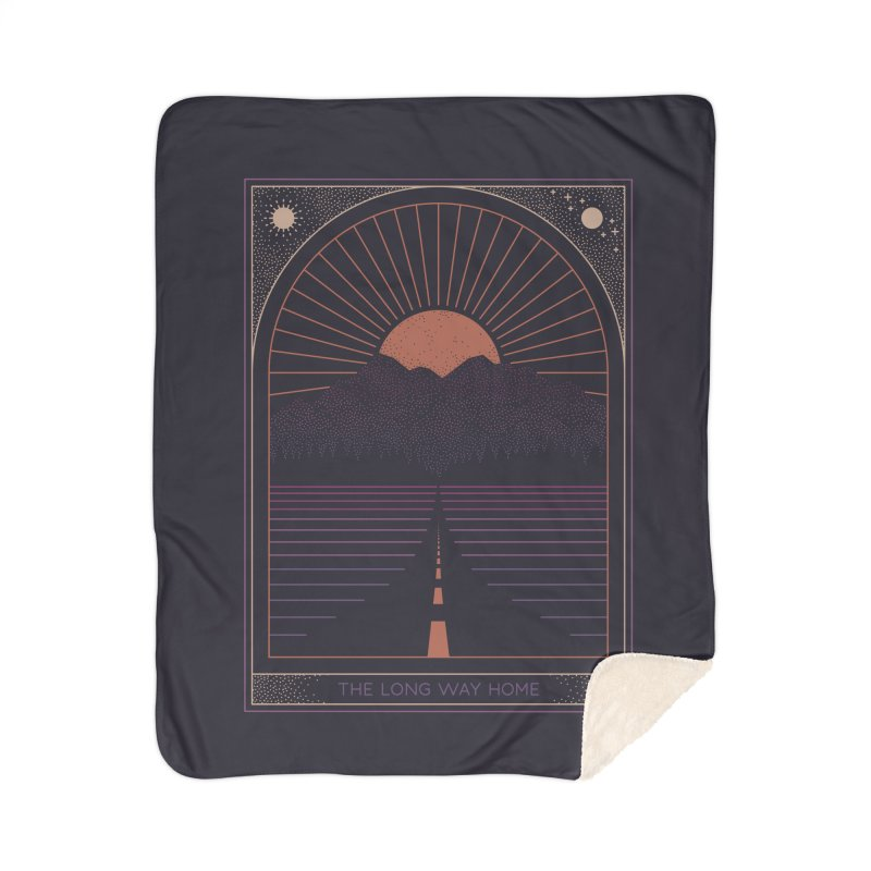 The Long Way Home Home Sherpa Blanket Blanket by thepapercrane's shop