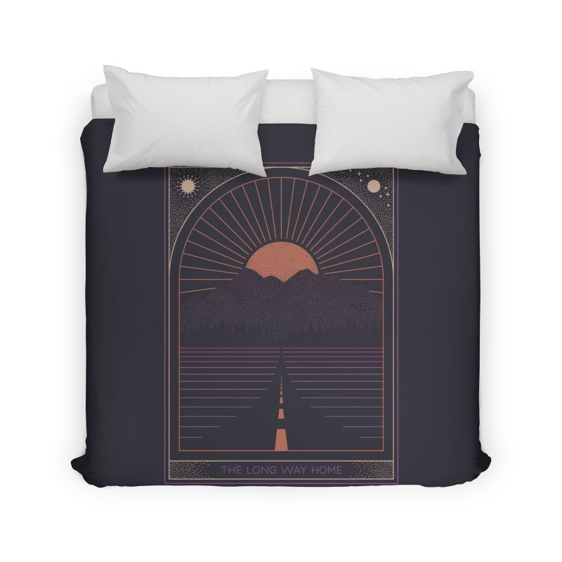 The Long Way Home Home Duvet by thepapercrane's shop