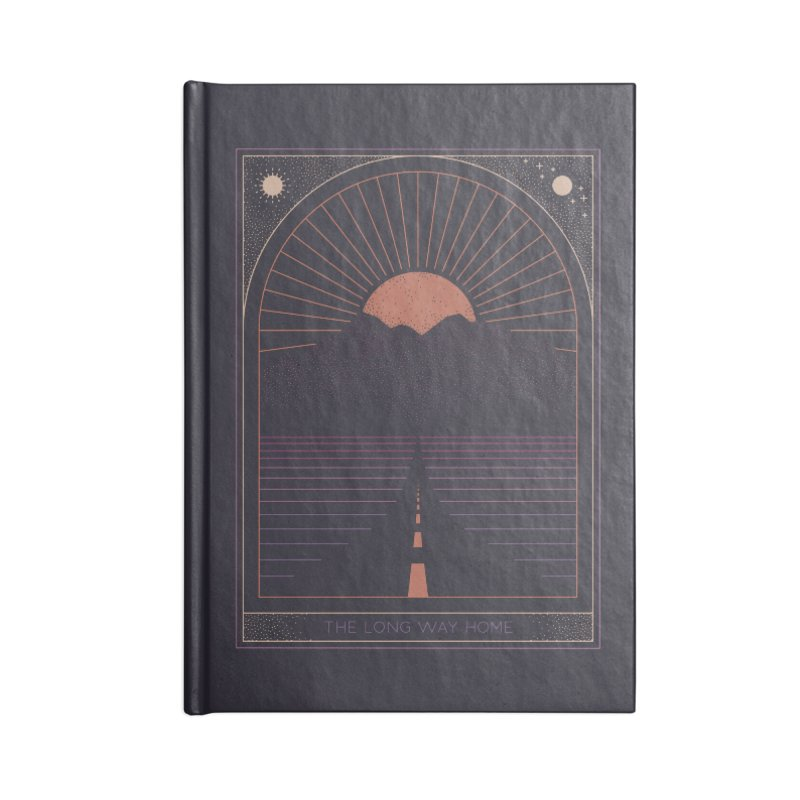 The Long Way Home Accessories Lined Journal Notebook by thepapercrane's shop