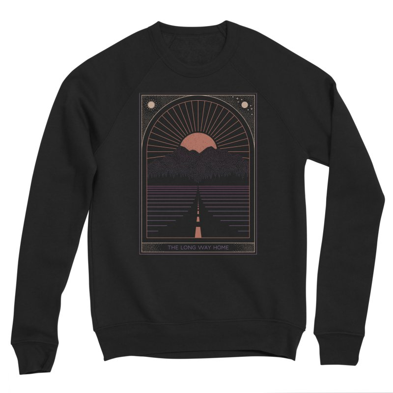 The Long Way Home Men's Sponge Fleece Sweatshirt by thepapercrane's shop
