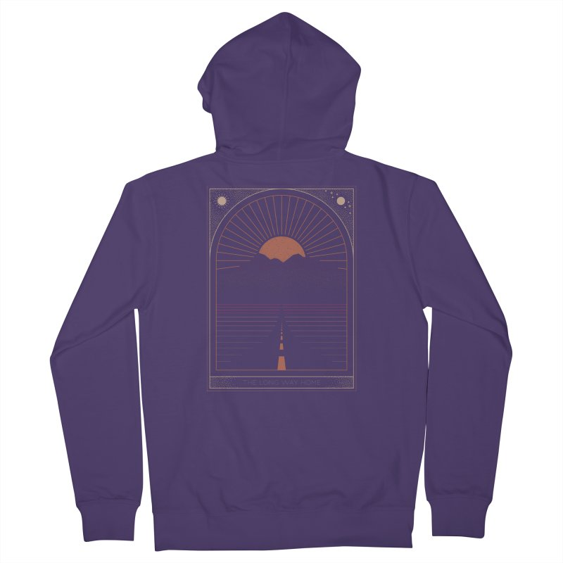 The Long Way Home Women's French Terry Zip-Up Hoody by thepapercrane's shop