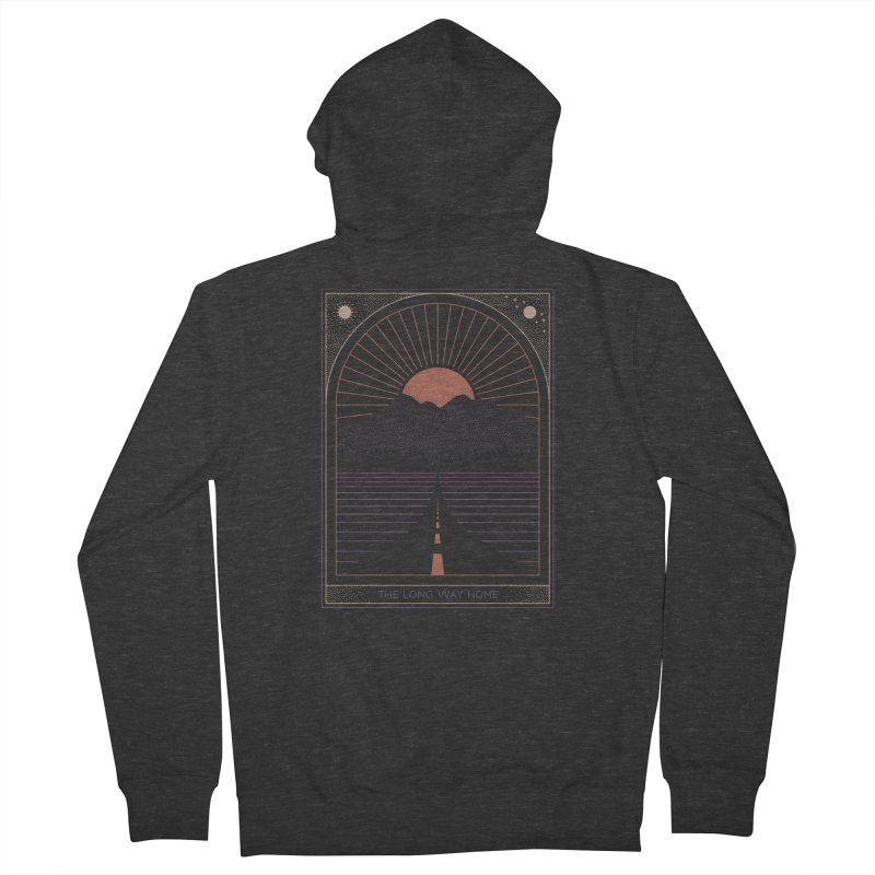 The Long Way Home Men's French Terry Zip-Up Hoody by thepapercrane's shop