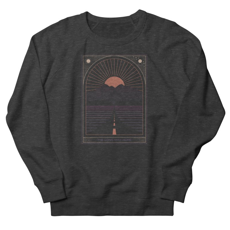 The Long Way Home Women's French Terry Sweatshirt by thepapercrane's shop