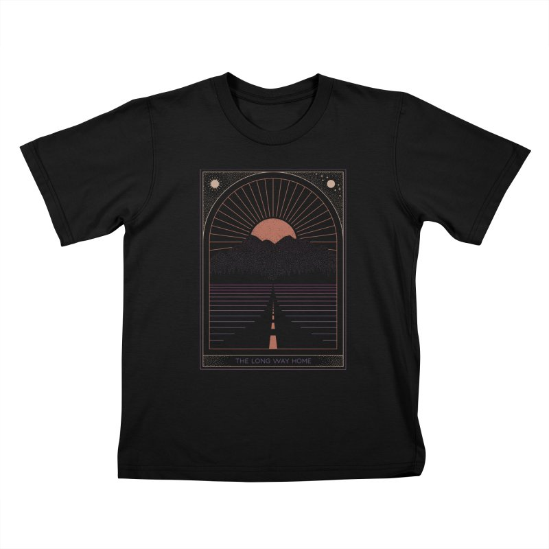 The Long Way Home Kids T-Shirt by thepapercrane's shop