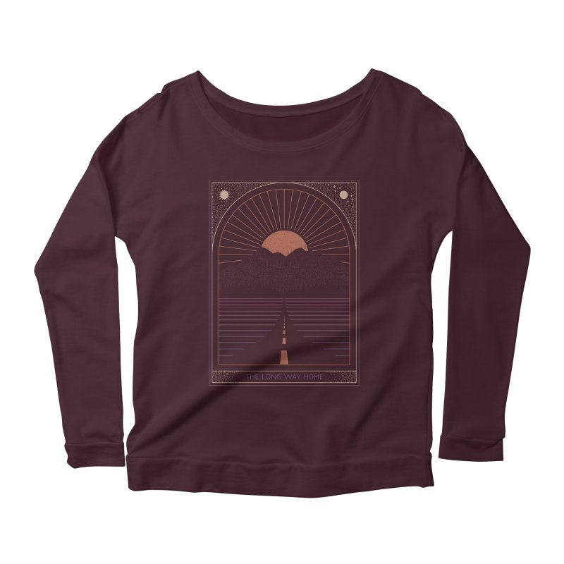 The Long Way Home Women's Scoop Neck Longsleeve T-Shirt by thepapercrane's shop