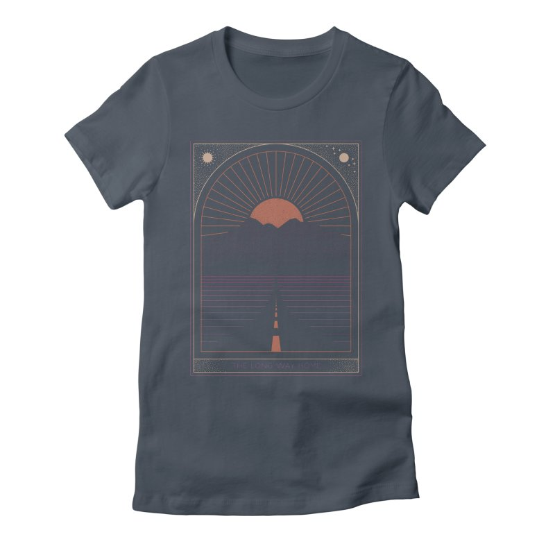 The Long Way Home Women's Fitted T-Shirt by thepapercrane's shop