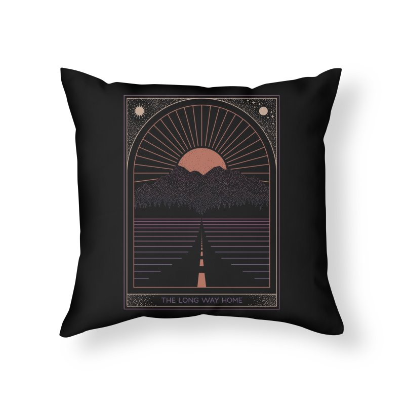 The Long Way Home Home Throw Pillow by thepapercrane's shop