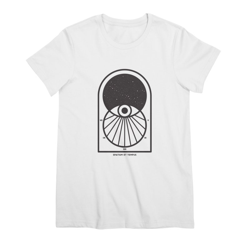 Space and Time Women's Premium T-Shirt by thepapercrane's shop