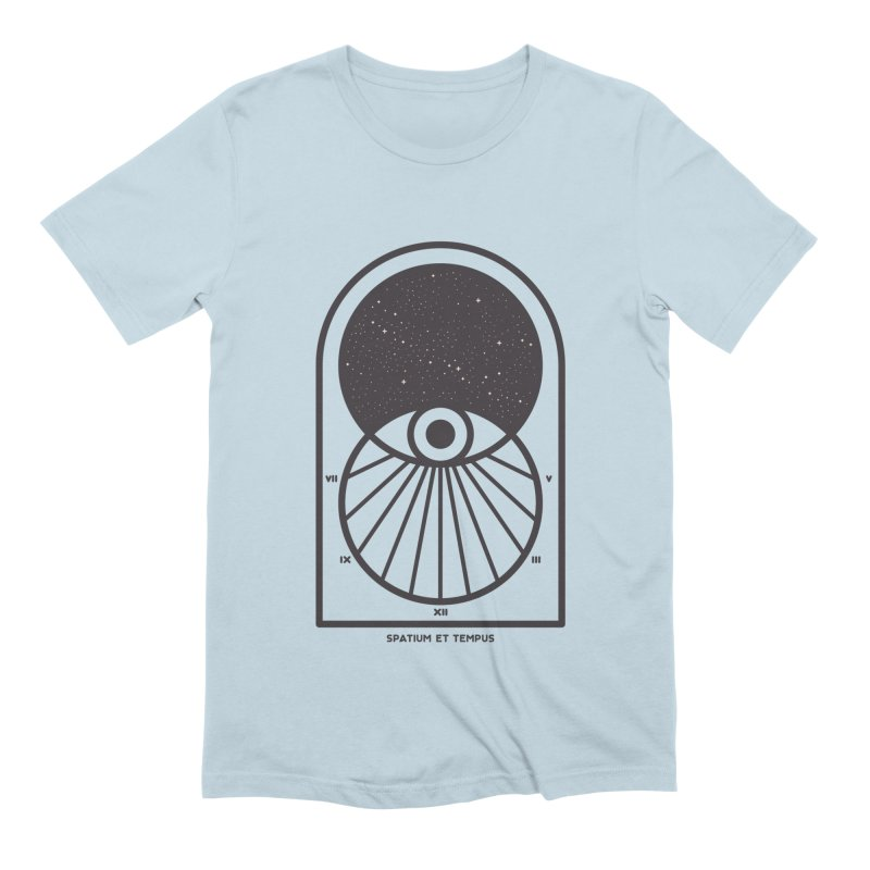 Space and Time Men's Extra Soft T-Shirt by thepapercrane's shop