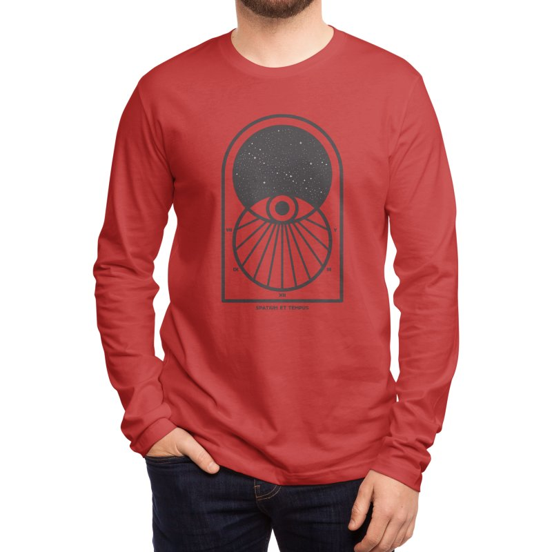 Space and Time Men's Longsleeve T-Shirt by thepapercrane's shop