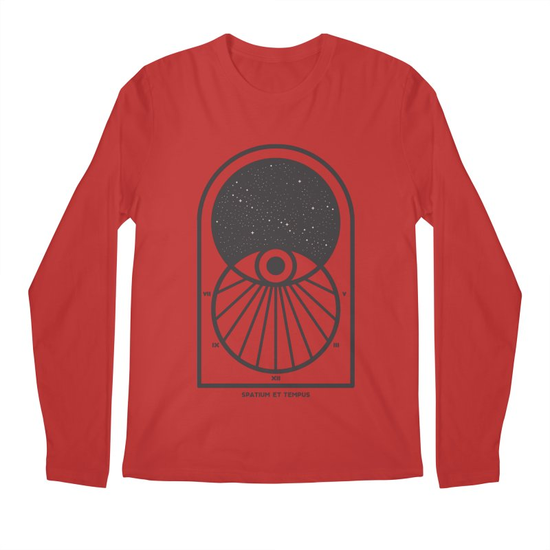 Space and Time Men's Regular Longsleeve T-Shirt by thepapercrane's shop