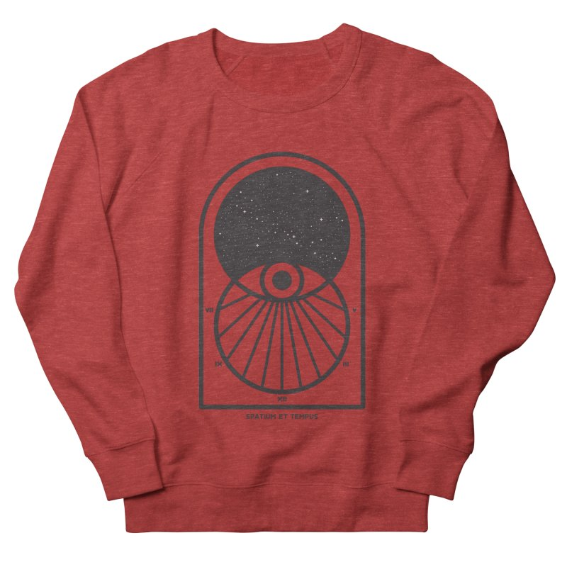 Space and Time Women's French Terry Sweatshirt by thepapercrane's shop