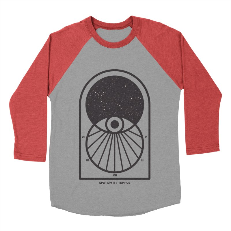 Space and Time Men's Baseball Triblend Longsleeve T-Shirt by thepapercrane's shop