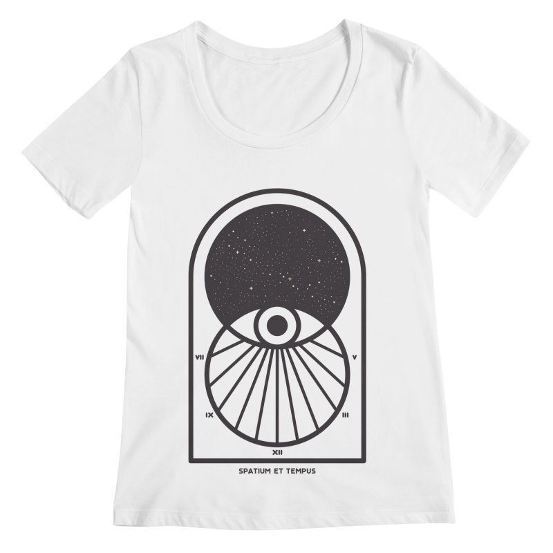 Space and Time Women's Regular Scoop Neck by thepapercrane's shop