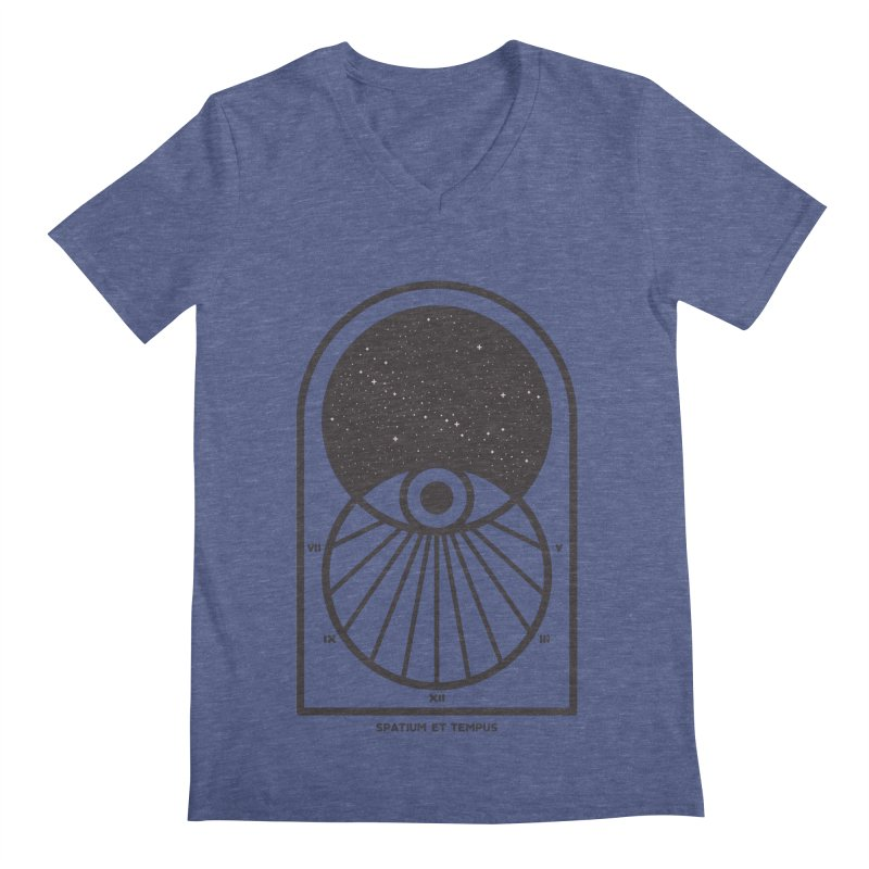 Space and Time Men's Regular V-Neck by thepapercrane's shop