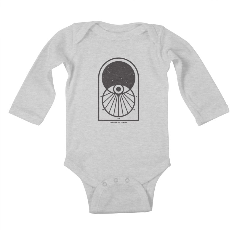 Space and Time Kids Baby Longsleeve Bodysuit by thepapercrane's shop