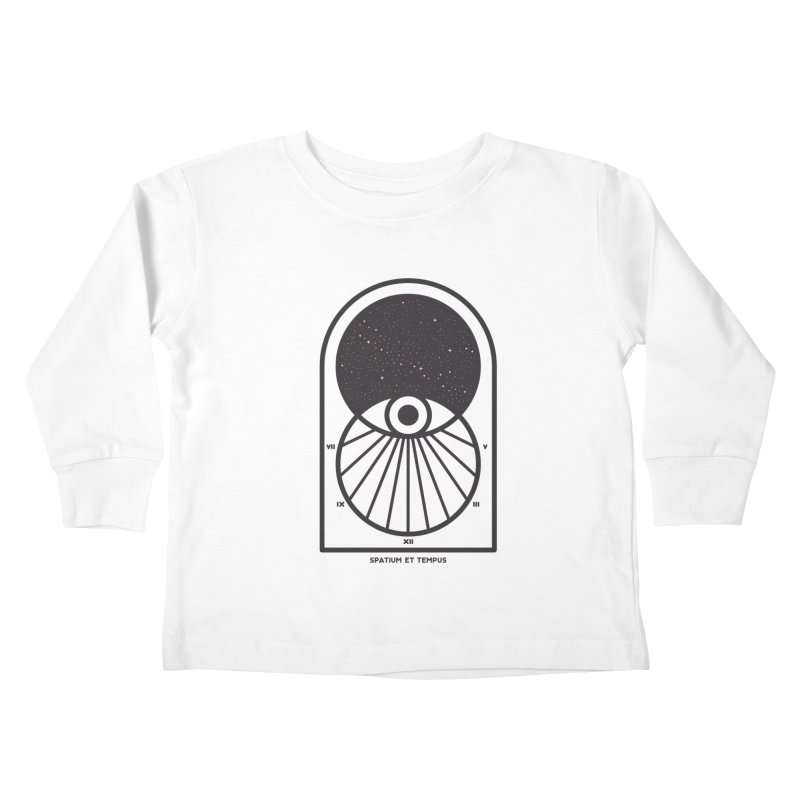 Space and Time Kids Toddler Longsleeve T-Shirt by thepapercrane's shop