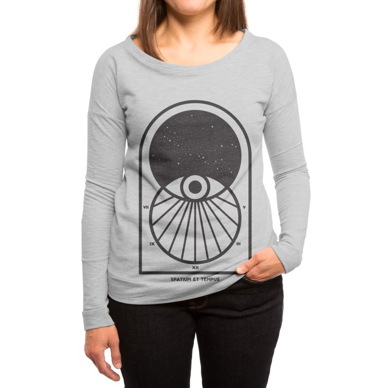Space and Time Women's Longsleeve T-Shirt by thepapercrane's shop