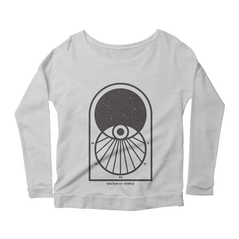 Space and Time Women's Scoop Neck Longsleeve T-Shirt by thepapercrane's shop
