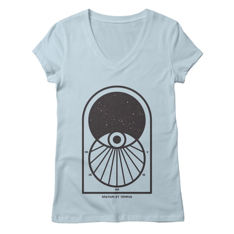 Space and Time Women's Regular V-Neck by thepapercrane's shop