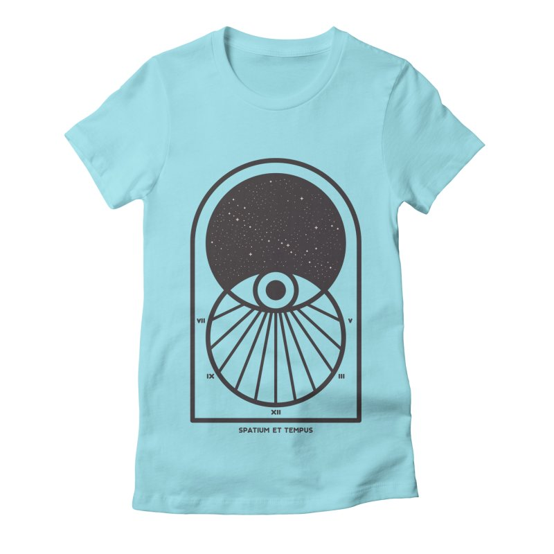Space and Time Women's Fitted T-Shirt by thepapercrane's shop