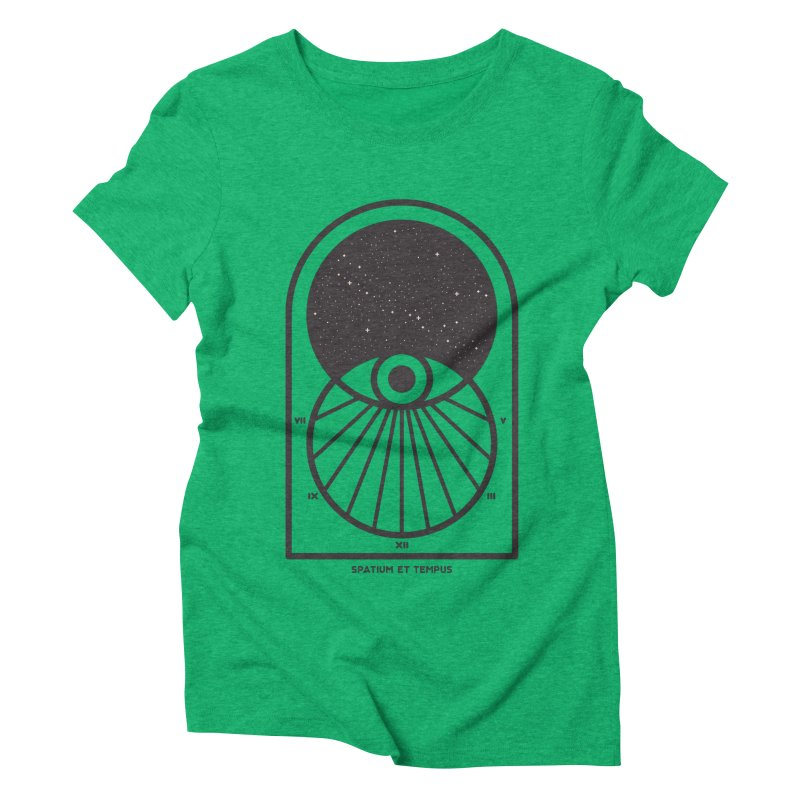 Space and Time Women's Triblend T-Shirt by thepapercrane's shop