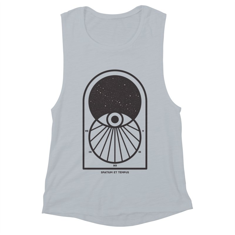 Space and Time Women's Muscle Tank by thepapercrane's shop
