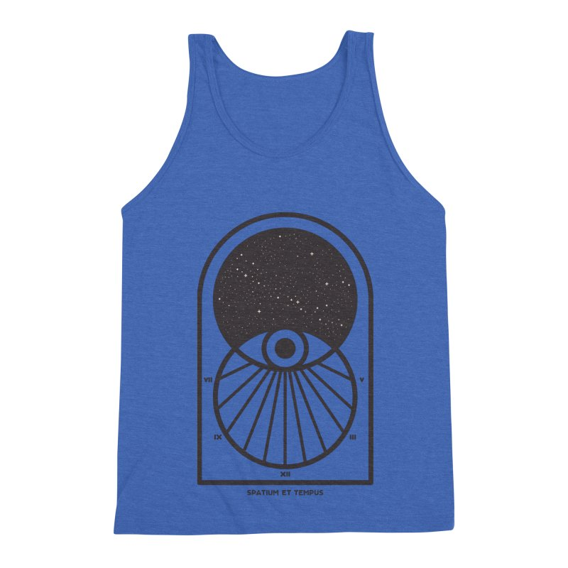 Space and Time Men's Triblend Tank by thepapercrane's shop