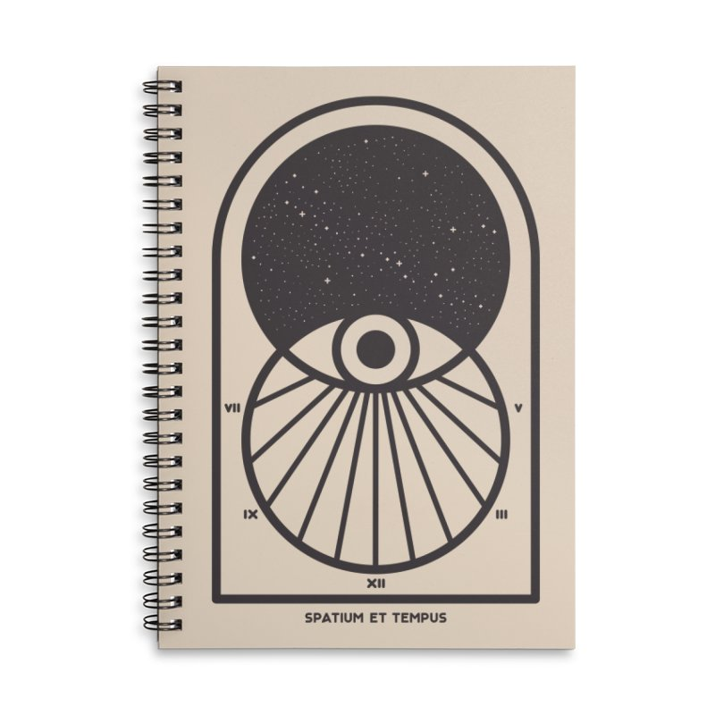 Space and Time Accessories Lined Spiral Notebook by thepapercrane's shop