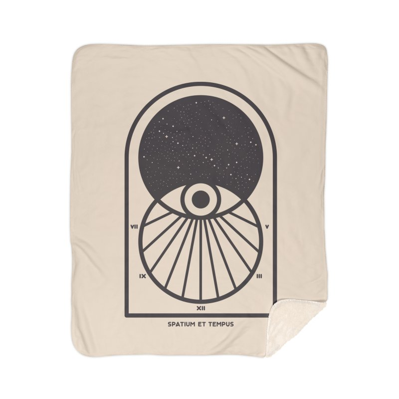 Space and Time Home Sherpa Blanket Blanket by thepapercrane's shop
