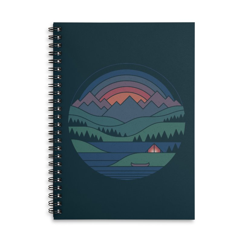 The Lake At Twilight Accessories Lined Spiral Notebook by thepapercrane's shop