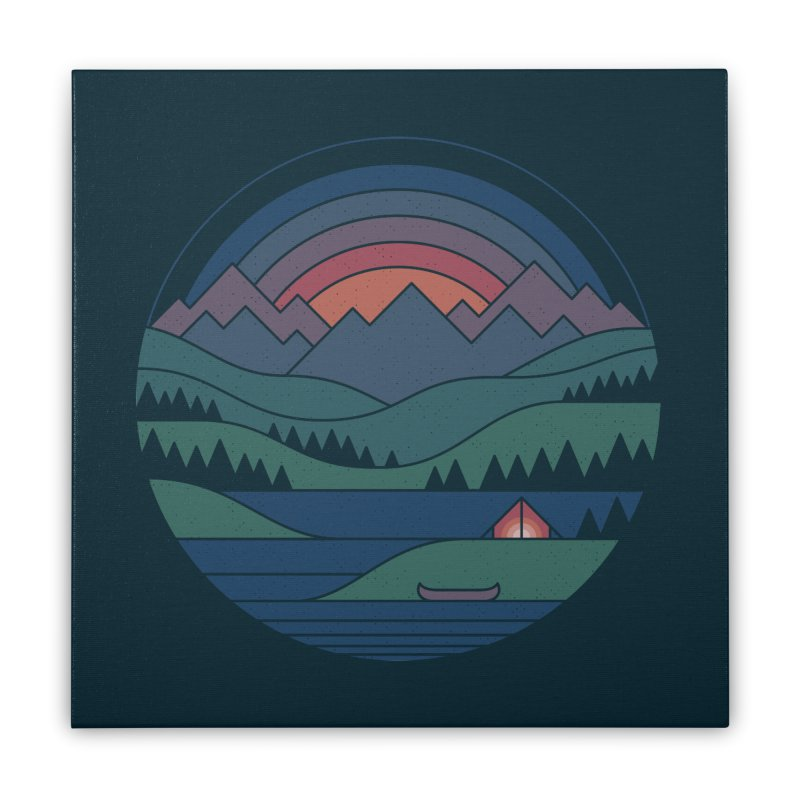 The Lake At Twilight Home Stretched Canvas by thepapercrane's shop