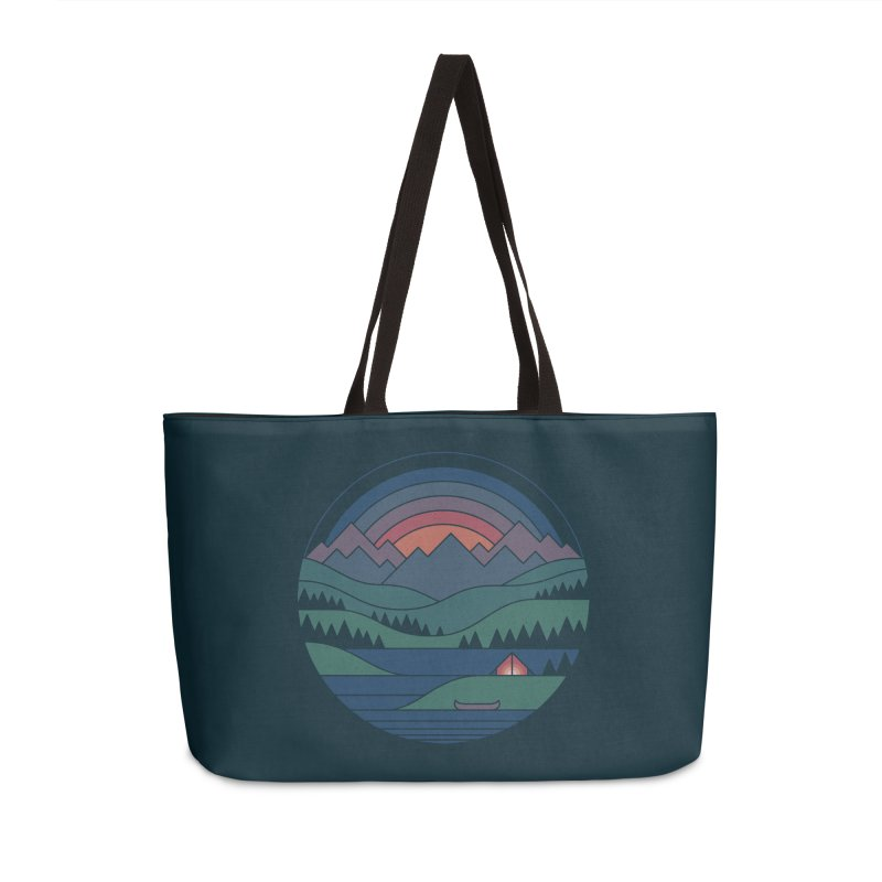 The Lake At Twilight Accessories Weekender Bag Bag by thepapercrane's shop