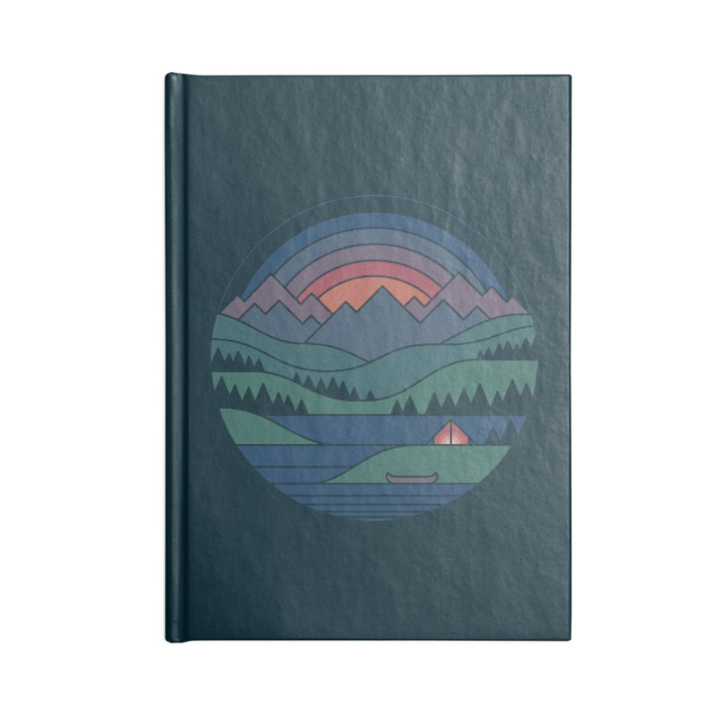 The Lake At Twilight Accessories Lined Journal Notebook by thepapercrane's shop