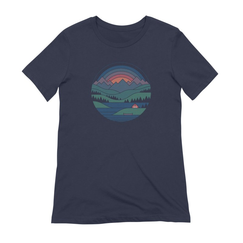 The Lake At Twilight Women's Extra Soft T-Shirt by thepapercrane's shop