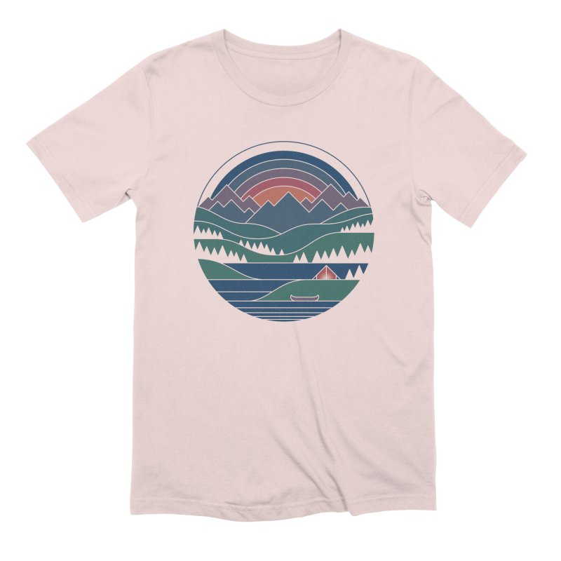 The Lake At Twilight Men's Extra Soft T-Shirt by thepapercrane's shop
