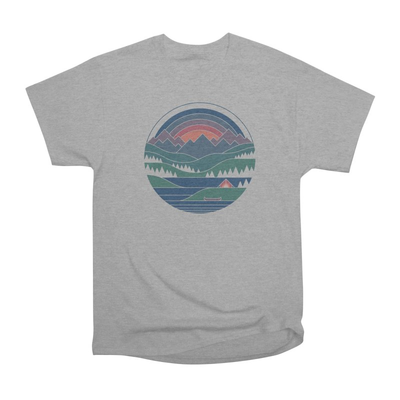 The Lake At Twilight Men's Heavyweight T-Shirt by thepapercrane's shop